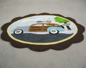 PDF Pattern Spring with Woody Penny Rug, Instant Download, Spring Decoration. Wool, Wool Felt, Applique.