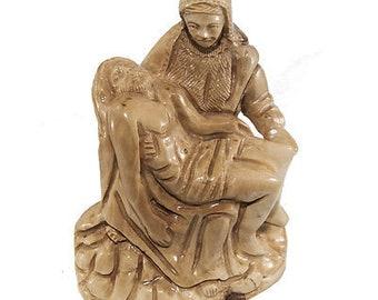 9ab4b02e0ef Carved Figurine Sistine Chapel La Pieta Michelangelo Olive Wood Hand Made 6