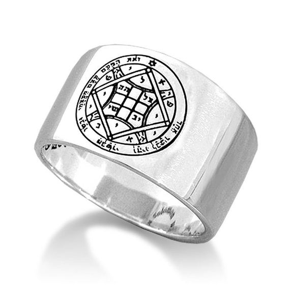 Love Seal Kabbalah Pentacle King Solomon Ring Amulet Silver 925
