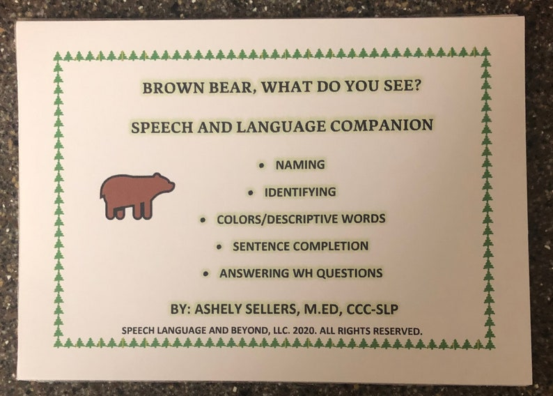 Brown Bear What Do You See PreAssembled Speech Language image 0
