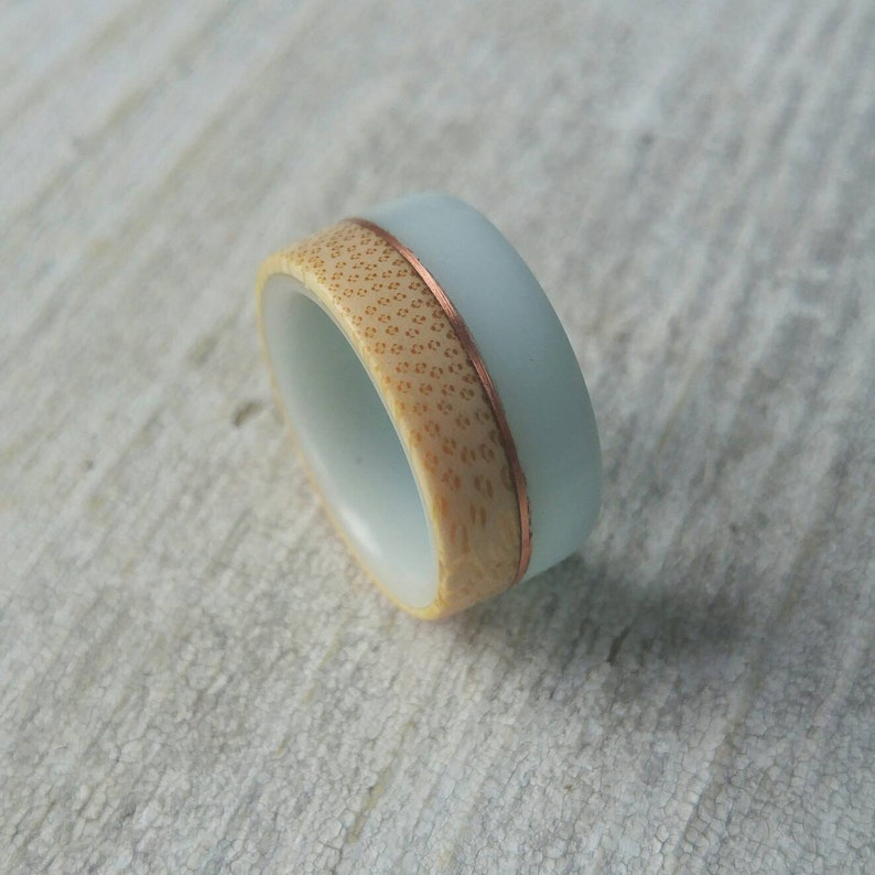 Bamboo Ring  FREE SHIPPING  Promise Ring  Unique Wedding Band