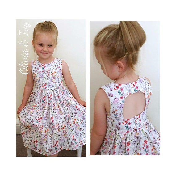 2cad0a6c696 Girls Floral Party Dress Girls Spring Summer Floral Dress