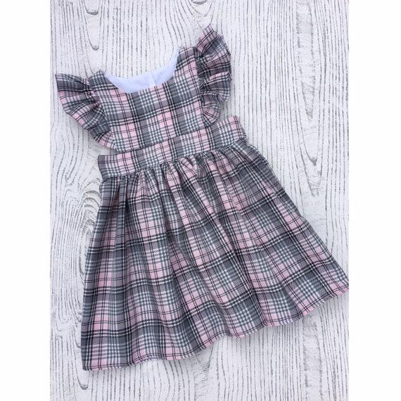 Girls' Clothing (newborn-5t) 7 Years Responsible Royal Stewart Girls Tartan Dress Summer Floral Print Frock Age 6 Months