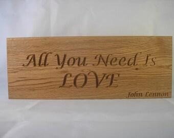 Carved Lyrics Plaque