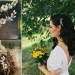 Wedding Hair Pins Crystal Bridal hair pins faux pearls hair accessories crystal hair jewelry
