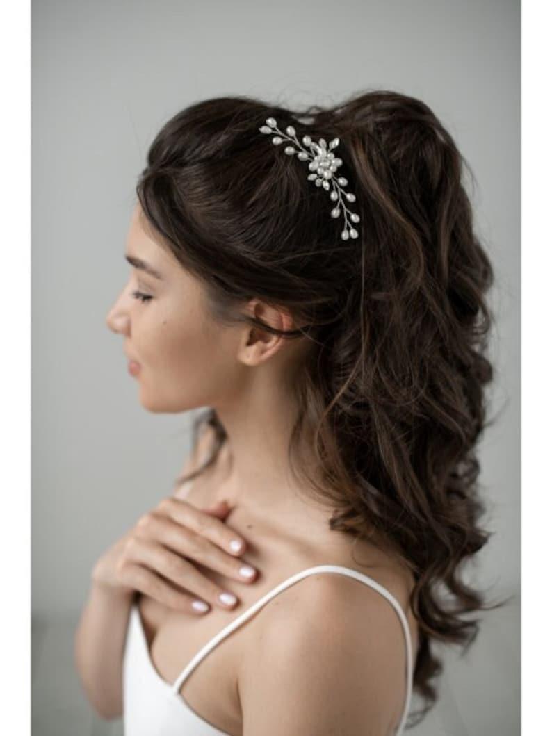 Bridal Hair Pins Wedding Hair Pins faux pearls hair image 1