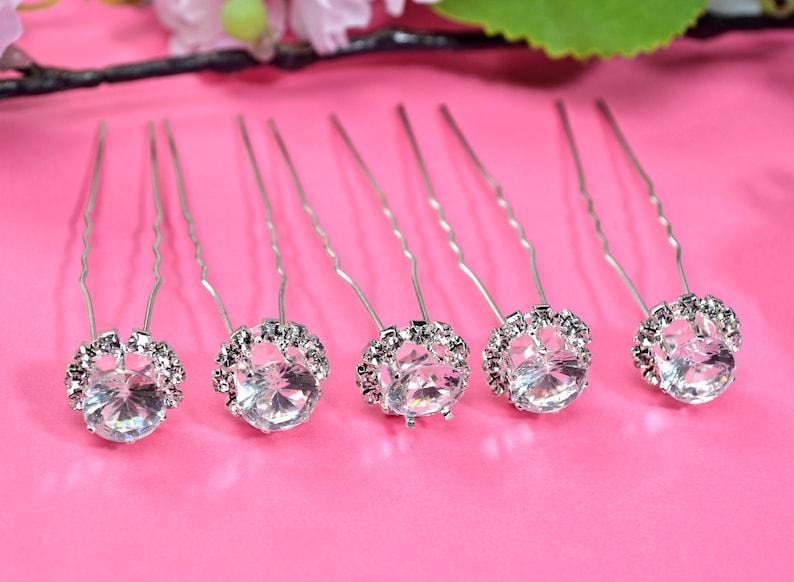 Wedding crystal hair pins bridal hair piece jewelry rhinestones peigne cheveux mariage diamante