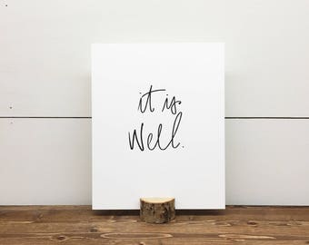 It Is Well // Letterpress Print