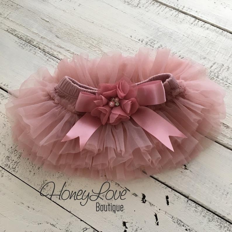 4b09e8f70 Vintage Pink Dusty Rose malva Tutu Falda de pañal de la