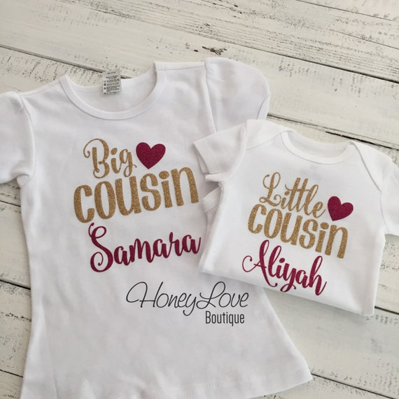 a5bc92a3 PERSONALIZED Cousin shirts Matching Little Middle Big gold | Etsy