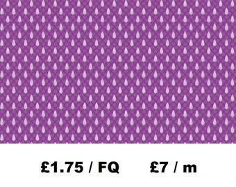 100% Cotton Purple Leaf Fabric