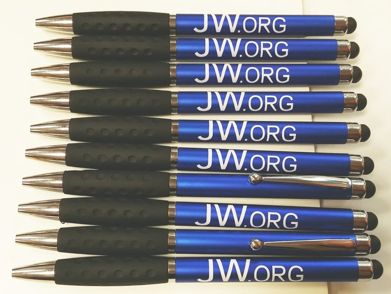 SPECIAL Lower Price 10 jw.org Pen STYLUS w/Rubber Grip image 0