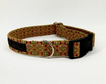 Venchen dog collar,luxury dog collar, Dogs, Pets, made in Scotland, green,dusky pink, terracotta,gold, cream