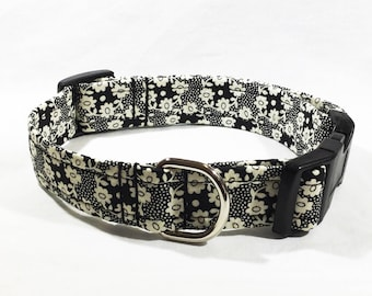 Liberty Millie Collar, Liberty of London, floral, cotton lawn, handcrafted , luxury dog collar , luxury dog leash , leads , dogs  pets