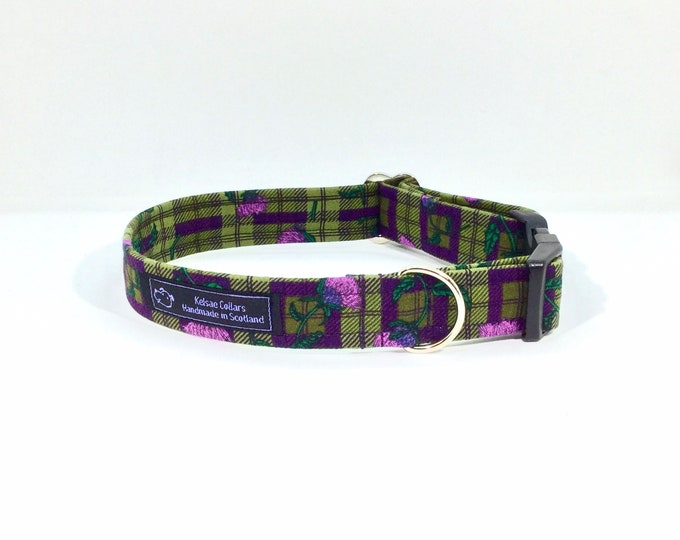 Featured listing image: Thistle Do dog collar,luxury dog collar, Dogs, Pets, made in Scotland