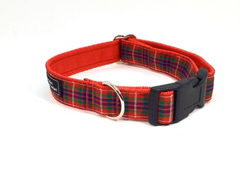 Fraser Tartan Collar,Scottish clans, plaids, dogs, pets, tartan ribbon