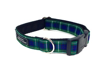 Campbell Tartan Collar,Scottish clans, plaids, dogs, pets, tartan ribbon