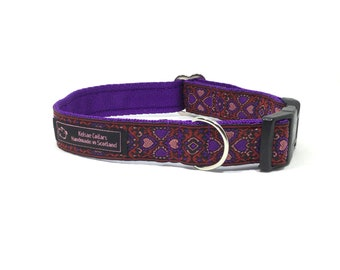 Four Leaf Clover Collar (1) handcrafted , luxury dog collar, luxury dog leash to match available , dogs , pets, made in Scotland, Kelsae