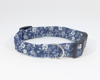 Lexy Floral Chambray collar