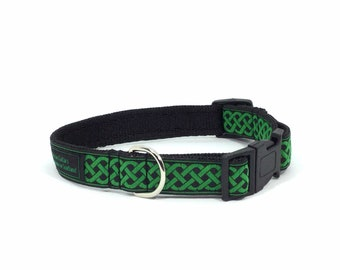Celtic Knot Collar, handcrafted , luxury dog collar, luxury dog leash to match available , made in Scotland,