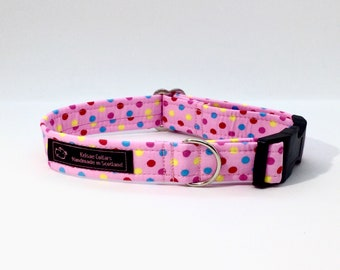 Dottie Mallottie Pink dog collar, made in Scotland, luxury dog collar, Dogs, Pets,