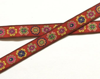 Flower Border Lead in Red
