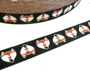 Tod the Fox Dog Lead , handcrafted , matching luxury dog collar to order, luxury dog leash, dogs , pets, jacquard ribbon,