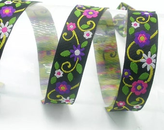 Flowers Lead (2),handcrafted , matching luxury dog collar to order, luxury dog leash, dogs , pets, jacquard ribbon,