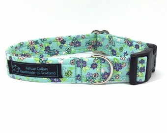 Isla  Collar,  floral,dog collars, pets, dogs, leash, handcrafted