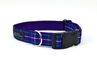 Pride Of The Glen Tartan Collar, ,Scottish clans, plaids, dogs, pets, tartan ribbon
