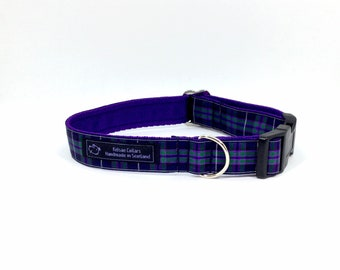 Pride of Scotland Highand tartan collar,made in Scotland, Scottish clans, plaids, dogs, pets, tartan ribbon, Scottish, pink tartan