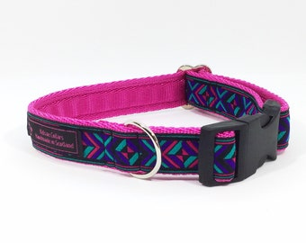 Bonnie  Collar, handcrafted , luxury dog collar, luxury dog leash to match available , dogs , pets, made in Scotland, Kelsae Collars