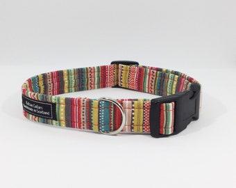Pinstripes Collar, stripes, dog leash,luxury dog collar,luxury dog leash,dogs, pets, made in Scotland