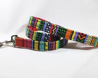 Green Aztec Lead,Aztec dog collar,dog leash,luxury dog collar,luxury dog leash,dogs, pets, green dog collar, jazzy design