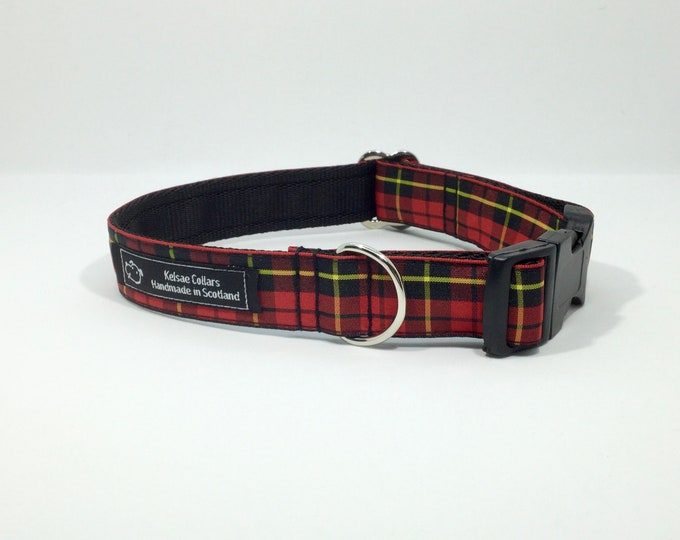 Featured listing image: Wallace Tartan Collar, plaid,Scottish clans, ,Scottish clans, plaids, dogs, pets, tartan ribbon