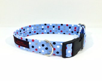 Dottie Mallottie Blue dog collar, made in Scotland, luxury dog collar, Dogs, Pets,