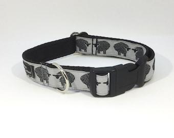 Flock of Sheep Dog Collar, sheep, lambs, farm, handcrafted, luxury dog collar, luxury dog leash, dogs, pets
