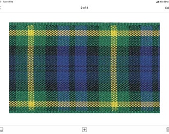 Gordon Tartan Lead, dogs, pets, Buchanan , plaid, Scottish clans