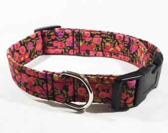 Liberty Wiltshire Red Collar, Liberty Wiltshire Lead, Liberty Dog Collar, dog collar,dog leash, luxury dog collar, luxury dog leash, handcra