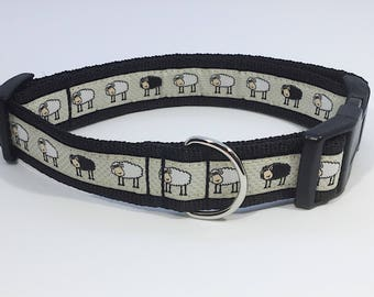 Black Sheep Collar, sheep, lambs, farm, handcrafted , luxury dog collar, luxury dog leash, dogs , pets