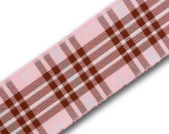 Raspberry Tartan lead, made in Scotland, Scottish clans, Royal Family, plaid, raspberry  tartan