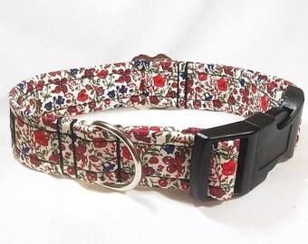 Liberty Helena's Meadow Collar, Liberty Helena's Meadow, Liberty Helenas Meadow Dog Collar, dog collar, luxury dog collar,