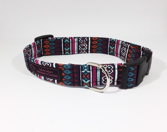 Totem Collar with  Cerise, Totem collar with Black, luxury dog collar , luxury dog leash  dog ,pets