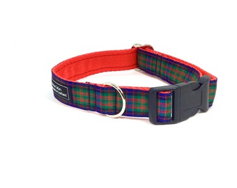 McDonald Tartan Collar,Scottish clans, plaids, dogs, pets, tartan ribbon