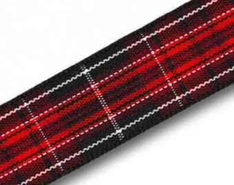 Pride of Wales Tartan Lead, ,Scottish clans, plaids, dogs, pets, tartan ribbon