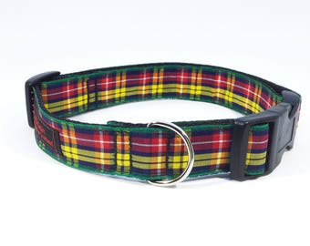 Buchanan Tartan Collar,Scottish clans, plaids, dogs, pets, tartan ribbon