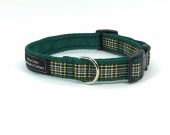 Irish National Tartan Collar, Scottish clans, plaids, dogs, pets, tartan ribbon