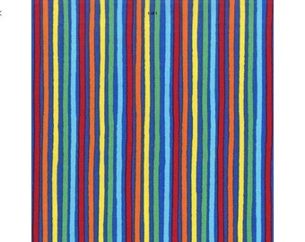 Stripes on Blue Lead, handcrafted, made in Scotland, stripes, stripey, cotton, Kelsae Collars