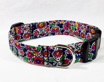 Liberty Pereira Collar, Liberty Tana lawn, luxury dog collar, luxury dog leash, dog, pats, floral, handcrafted