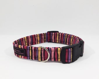 Tooty Frooty Collar, stripes, dog leash,luxury dog collar,luxury dog leash,dogs, pets, made in Scotland